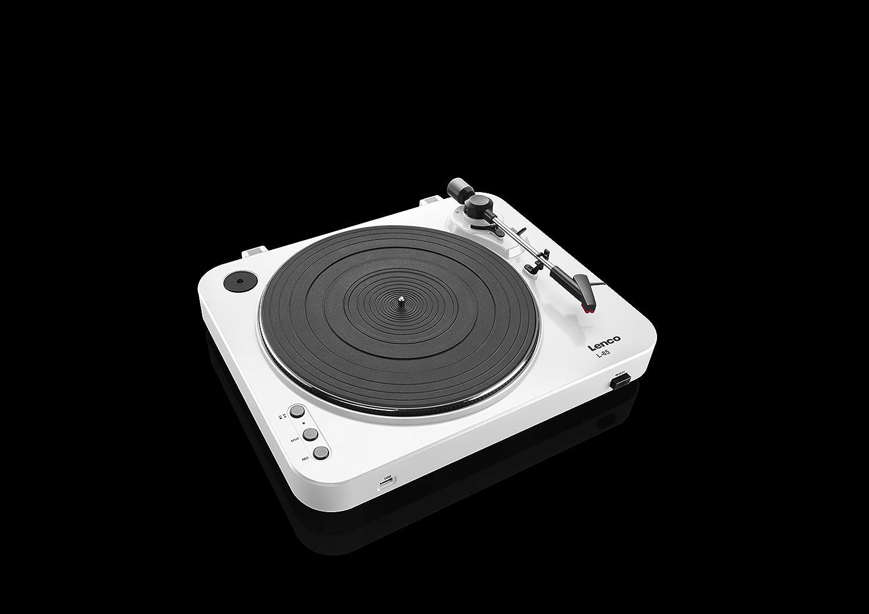 Lenco L 85 Black 33 45 Rpm Semi Automatic Belt Drive Usb Vinyl Pre Amplifier