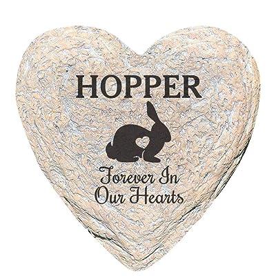 GiftsForYouNow Engraved Assorted Animals with Heart Memorial Heart Garden Stone, Rabbit Our : Garden & Outdoor
