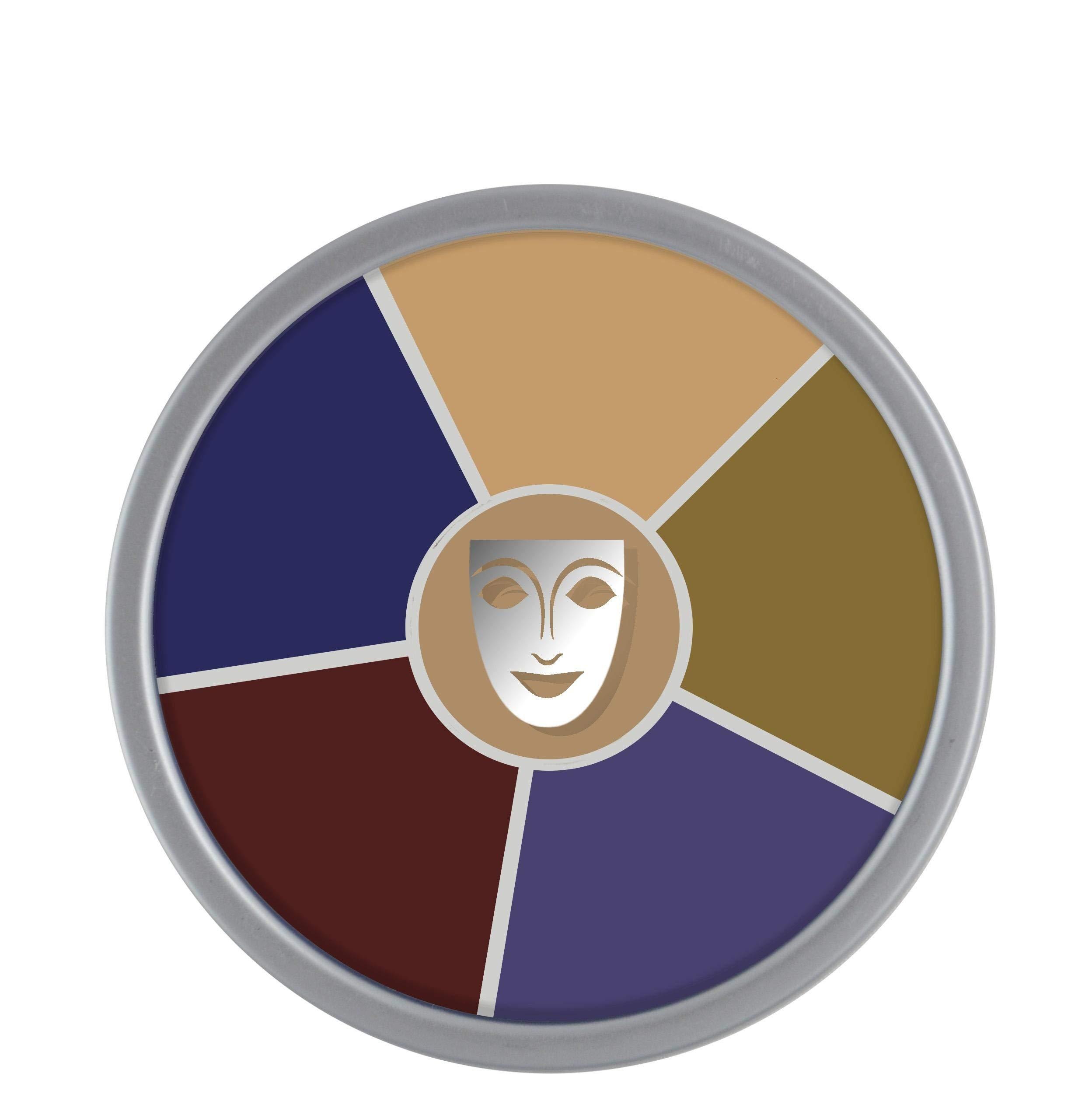 Kryolan Cream Color Circle 1306 Bruise Makeup Palette 6 Colors
