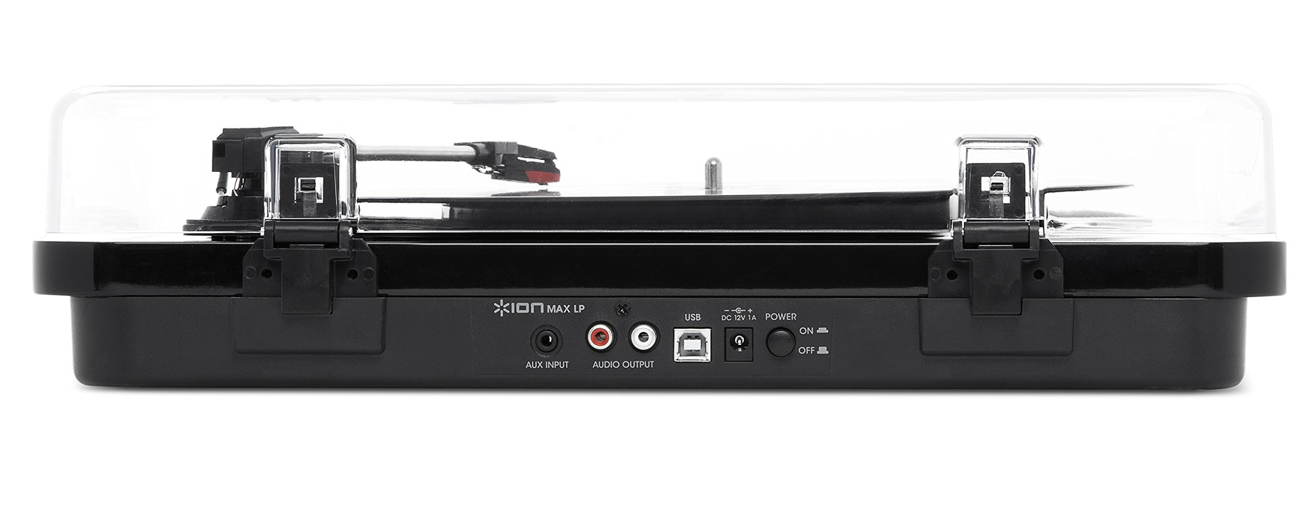 ION Audio Max LP – Three Speed Vinyl Conversion Turntable with Stereo Speakers, USB Output to Convert Vinyl Records to Digital Files and Standard RCA & Headphone Outputs – Piano Black Finish by ION Audio (Image #4)