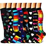 CHARMKING Compression Socks 15-20 mmHg is BEST Graduated Athletic & Medical for Men & Women Running, Travel, Nurses, Pregnant - Boost Performance, Blood Circulation & Recovery(Small/Medium,Assorted20) (Color: 11 Black/Black/Multi/Navy/Black/Black/Black/Red, Tamaño: Small/Medium (US Women 5.5-8.5/US Men 5-9))