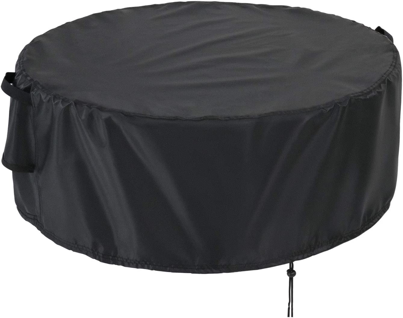 Kingling Outdoor Furniture Cover Waterproof, Waterproof Round Patio Table & Chair Set Cover, Heavy Duty Outdoor Lawn Patio Table Covers with 2 Buckles, Black (60