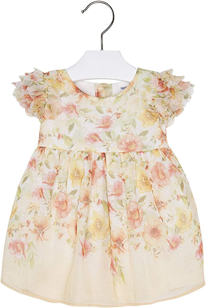 Fully lined WAS £35 NOW £16 SALE Designer MAYORAL Baby Girls Pink//White Dress