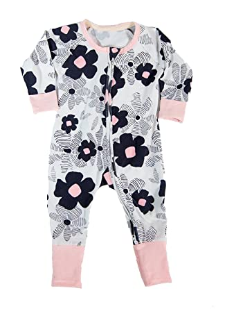aa1e781e3cd5 Amazon.com  Baby And Toddler Pajama Romper - The Dreamer - Made To Keep  Little Girls Warm  Clothing