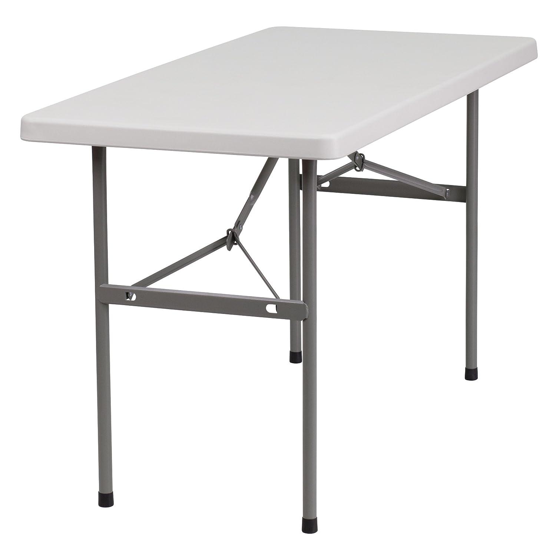 Amazon Flash Furniture 24 W x 48 L Granite White Plastic