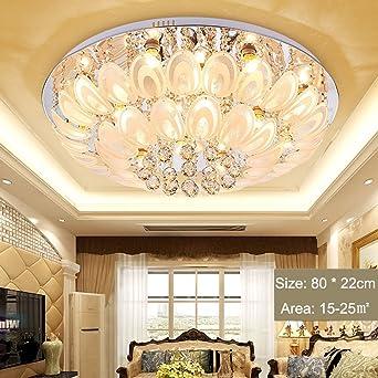 plafonnier led cristal lustre moderne chambre ronde salon salle manger tude plafond lustre lustre en