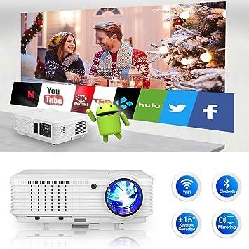 WIKISH Proyector de Video inalámbrico LCD 1080P, 4500 Lumen ...