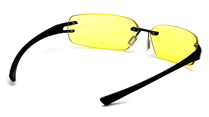 Amazon.com: Pyramex Safety DV30 Gafas, Marco Negro, Amarillo ...