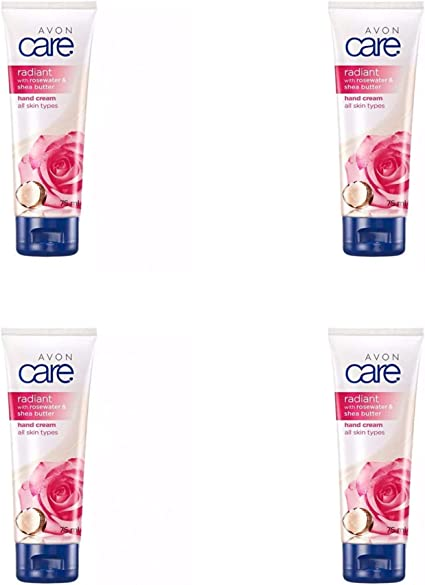4x Avon Nurturing with Glycerine Hand & Nail Cream, 75ml (300ml)