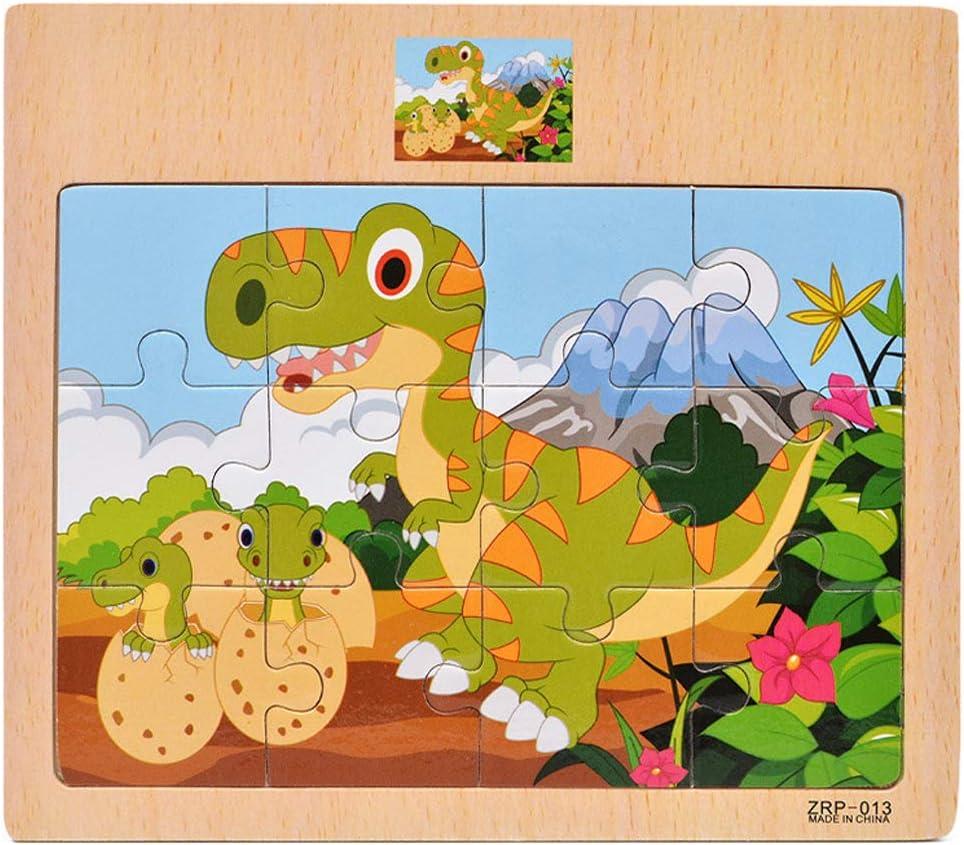 SIPLIV Puzzle en Bois Puzzle Jouets d/éducation pr/écoce pour Les Enfants de 2 /à 6 Ans 4 pi/èces par Jeu Animaux Marins