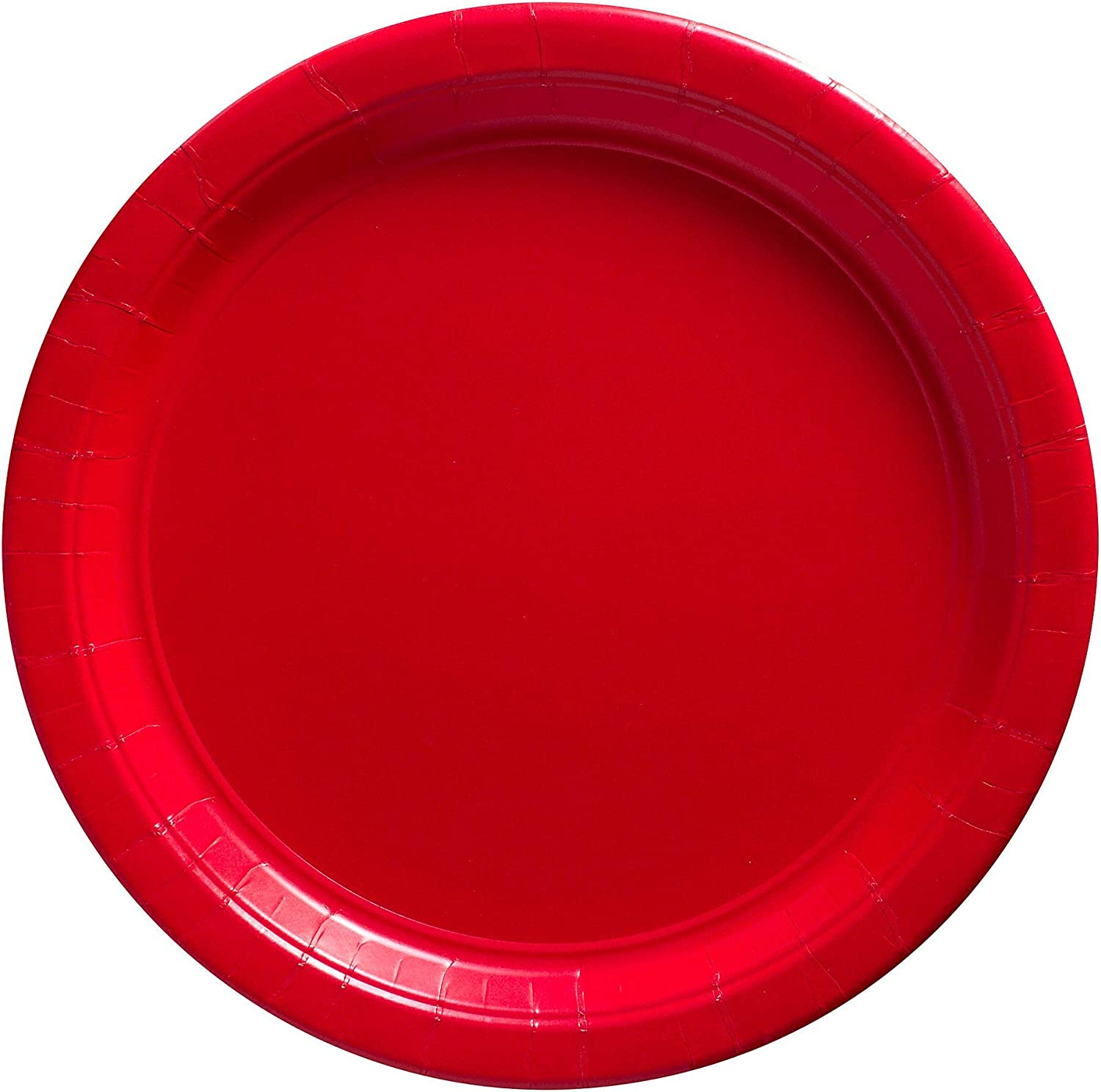 Apple Red Dinner Paper Plates Big Party Pack, 50 Ct.
