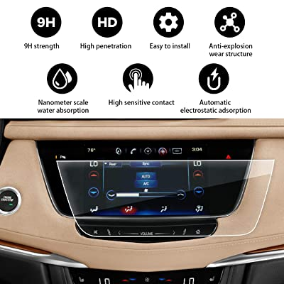"YEE PIN Cadillac XT5 Touch Screen Protector for 2020-2020 Cadillac XT5 XT6 8"" CUE Infotainment Interface Center Control Touch Screen, Car Navigation Display Glass Protective Film Anti-Scratch : Camera & Photo"