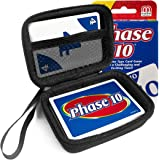 FitSand(TM) Carry Travel Zipper EVA Hard Case for Phase 10 Card Game - Black Box, Blacker Box, Best Protection for Phase 10 Cards