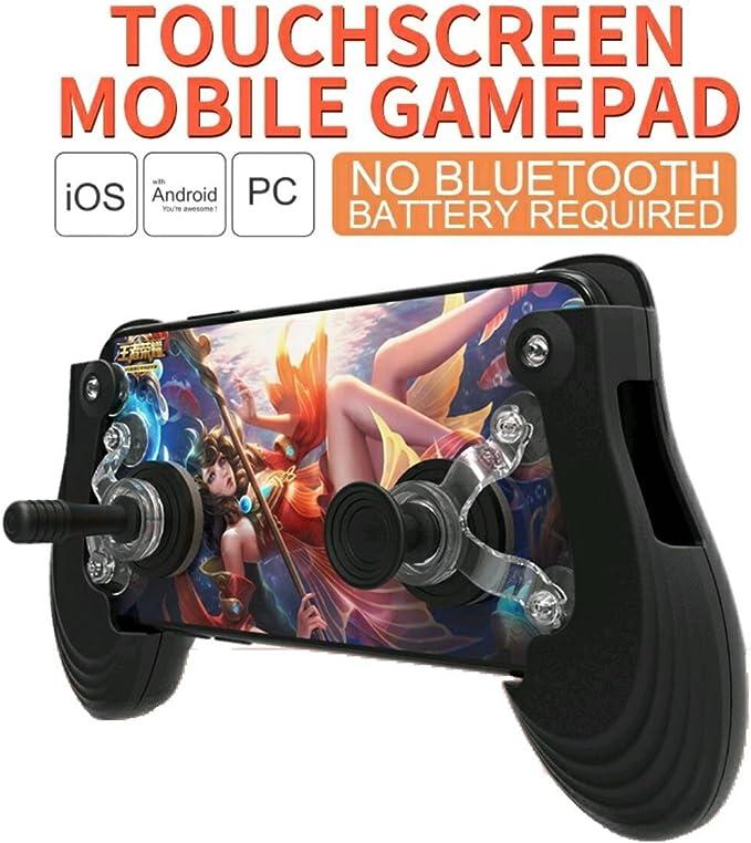 Busirde 1x Piccola Dimensione del Telefono Sucker Gioco Joystick Joypad Touch Screen del Mobile Mini Rocker Gamepad Rosso