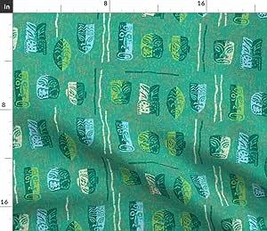 Spoonflower Tiki Fabric