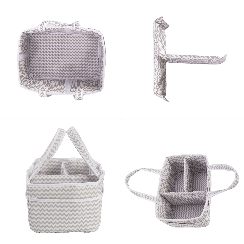 incarpo Baby Storage Basket Foldable Diaper Caddy Organiser Portable Large Nursery Bag Shower Gift Organizer for Boy Girl