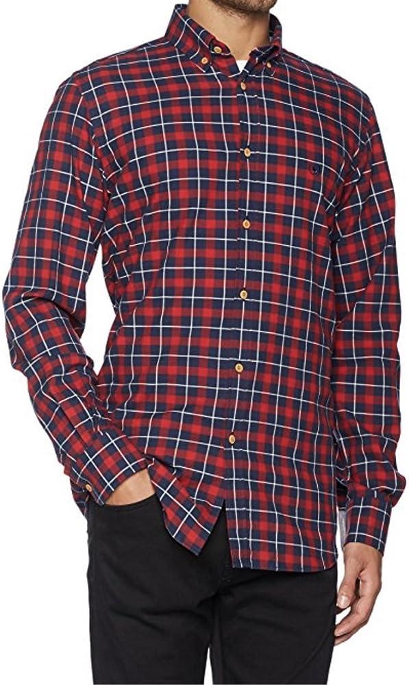 El Ganso 1050W170017 Camisa Casual, Marino Rojo, 43 para Hombre: Amazon.es: Ropa y accesorios