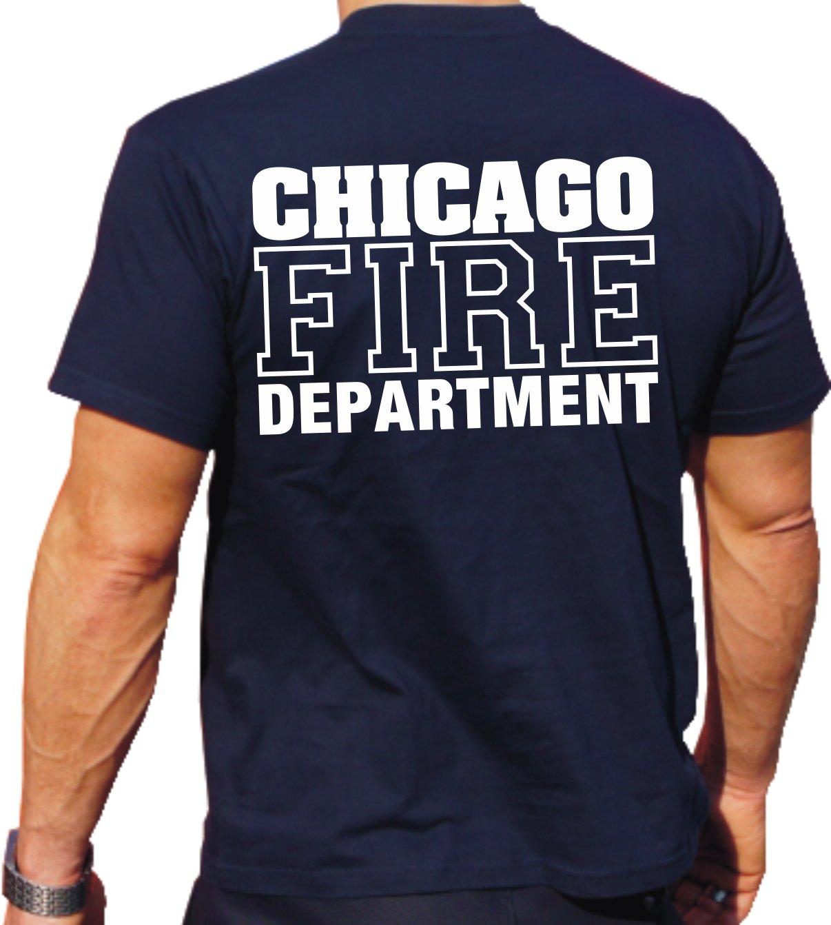 Feuer1-Maglietta con scritta CHICAGO FIRE DEPT.