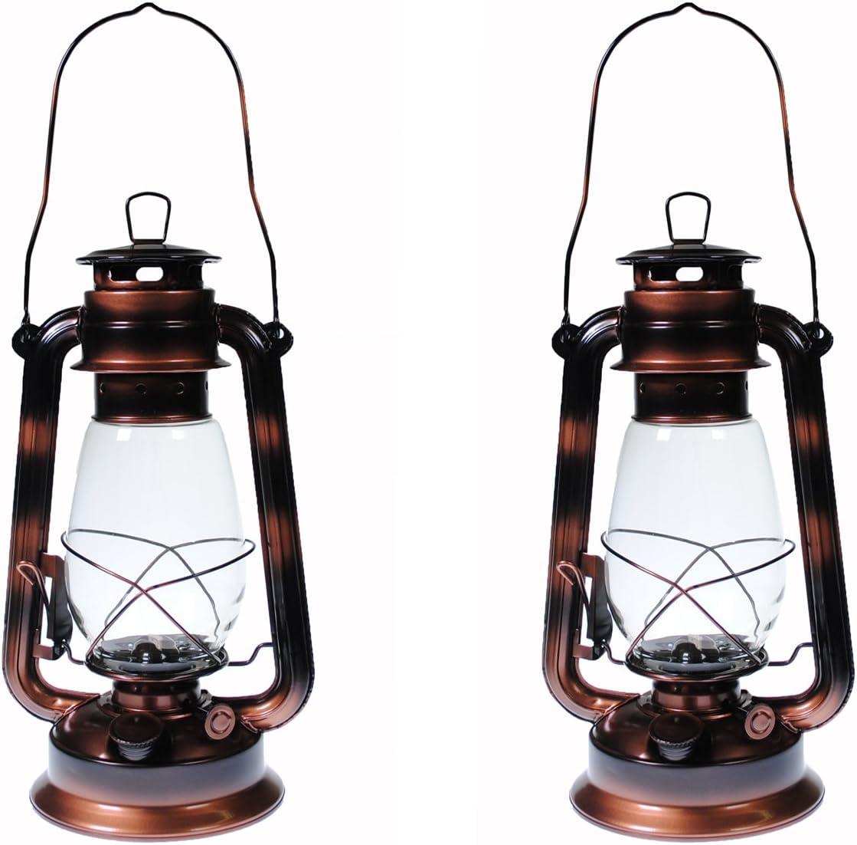 Shop4Omni S4O Hanging Hurricane Lantern/Elegant Wedding Light/Table Centerpiece Lamp - 12 Inches (2, Antique Brass)