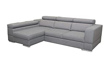 Mb Moebel Ecksofa Mit Schlaffunktion Eckcouch Sofa Couch L Form Polsterecke Grau Isabel Ecksofa Links