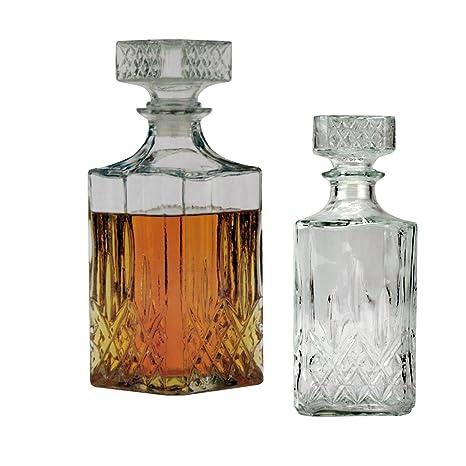 Whiskykaraffe Glaskaraffe für Whisky Cognac Likör Whisky Glas Karaffe Eckig Whis