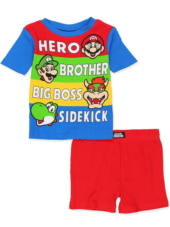 Super Mario Boys 2fer 4 piece Short Sleeve Shorts Cotton Pajamas Set manufacturer