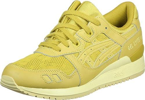 Asics Gel-Lyte III Schuhe Damen Sneaker Turnschuhe Gelb H756L 0303