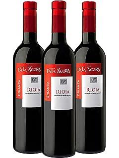Pata Negra Crianza D.O Rioja Vino Tinto - 3 botellas x 750 ml - Total: