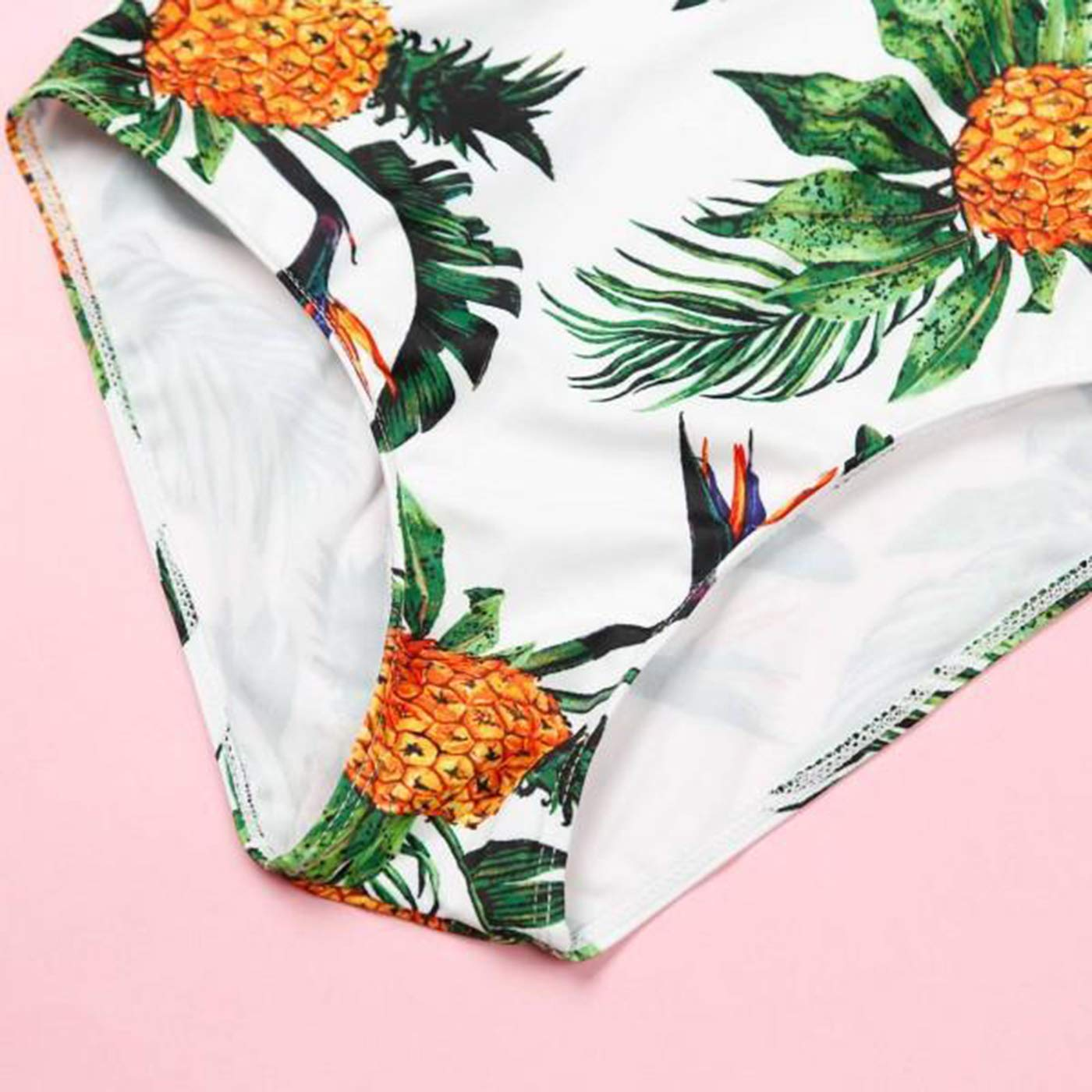 Family Matching Swimsuit Monokini for Women Men Boy and Girl Mommy and Me Swimsuit One Piece Pineapple Printed Swimsuit