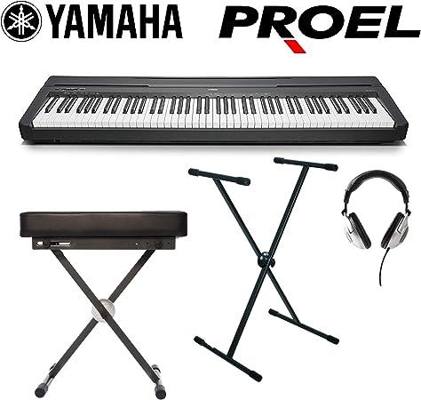 Yamaha P45B – Piano teclado profesional 88 teclas pesadas + ...
