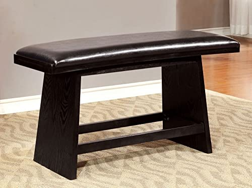 Furniture of America CM3433PBN Hurley Counter Height Seating Bench
