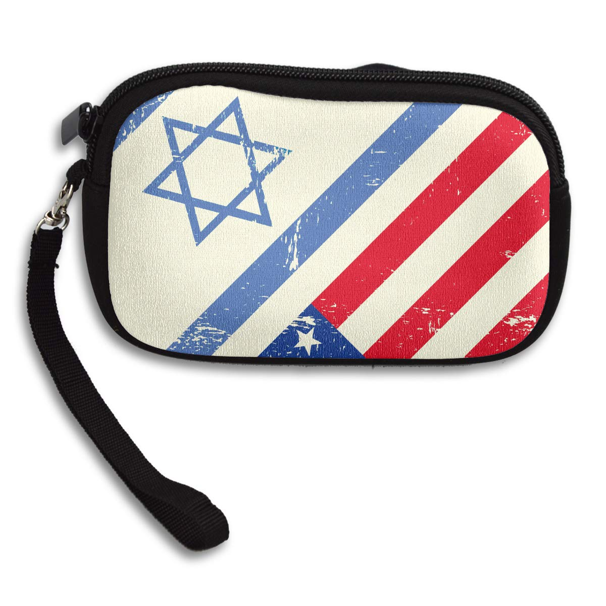 Israel And The American Flag Coin Purse Cute Change Purse,Make Up Bag,Cellphone Bag With Handle Purses For Women