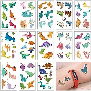 Amazon.com: COKOHAPPY - Tatuajes temporales de dinosaurio ...