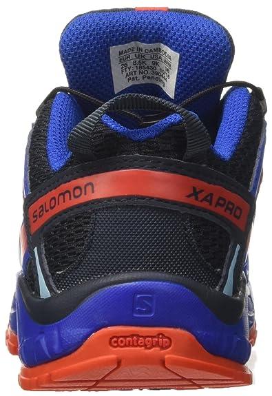 Salomon XA Pro 3D J, los Zapatos Al Aire Libre de Multideporte infantil, Azul (Deep Water/Scuba Blue/Tonic Green), 31 EU