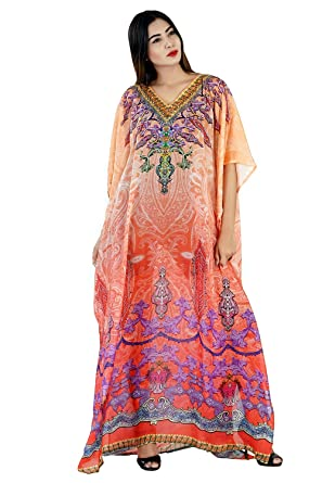 Silk kaftan Online one Piece Dress Jeweled/Hand Made/Formal/Caftan Beach Cover