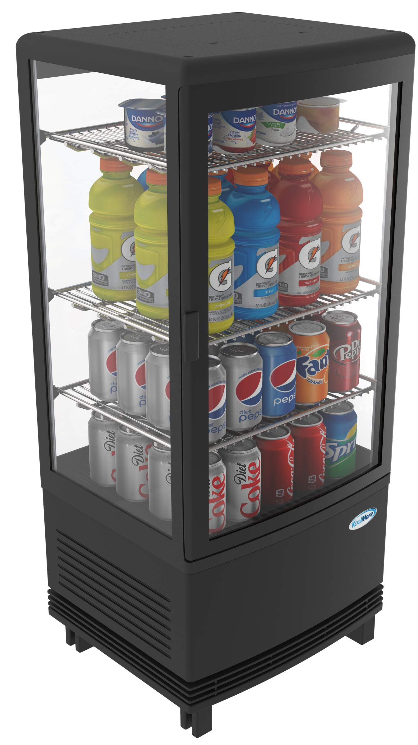 KoolMore Countertop Refrigerator Display Case Commercial Beverage Cooler with LED Lighting - 3 cu. ft Capacity by KoolMore (Image #9)