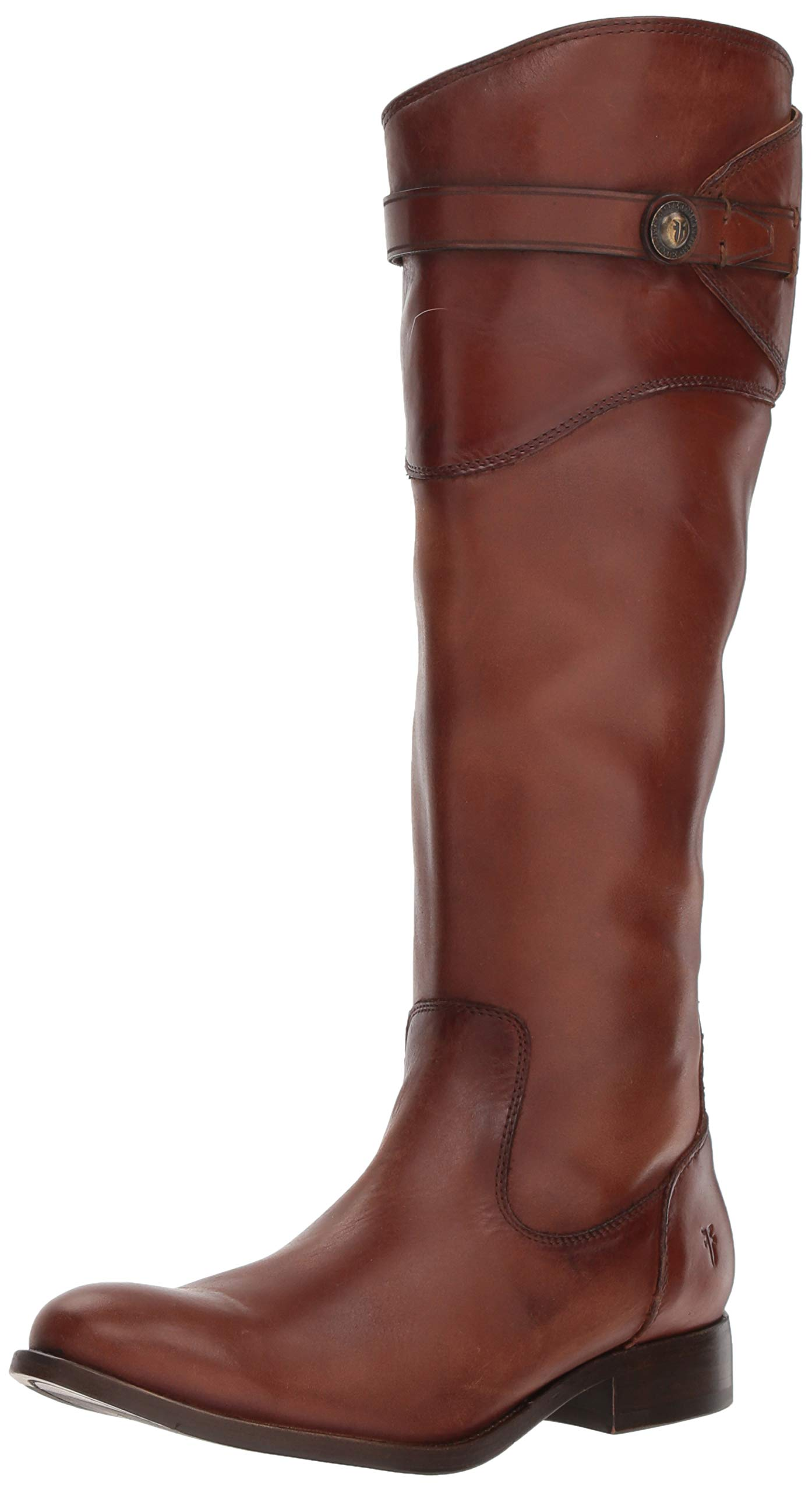 FRYE Women's Molly Button Tall Boot, Cognac, 9 M US by FRYE