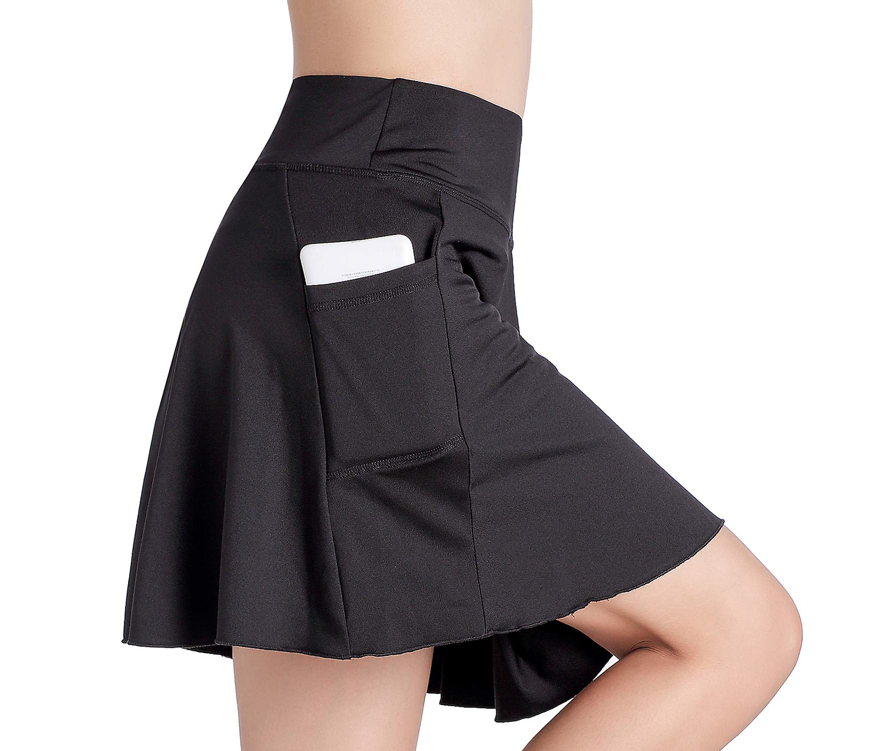 EAST HONG Women's Golf Skort Tennis Running Workout Skort (L, Black) by EAST HONG