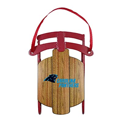 Boelter Carolina Panthers Ornament Metal Sled: Sports & Outdoors
