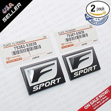 New Black FSport 3D Badge Trunk Marker Emblem Decoration