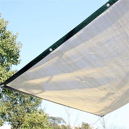 Panel de malla de sol DYHQQ, 90% tela de sombra UV con ojales ...