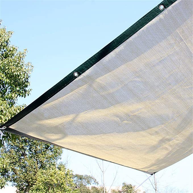 Panel de malla de sol DYHQQ, 90% tela de sombra UV con ojales para patio/ pergola/toldo, color trigo, 4 * 5m: Amazon.es: Hogar
