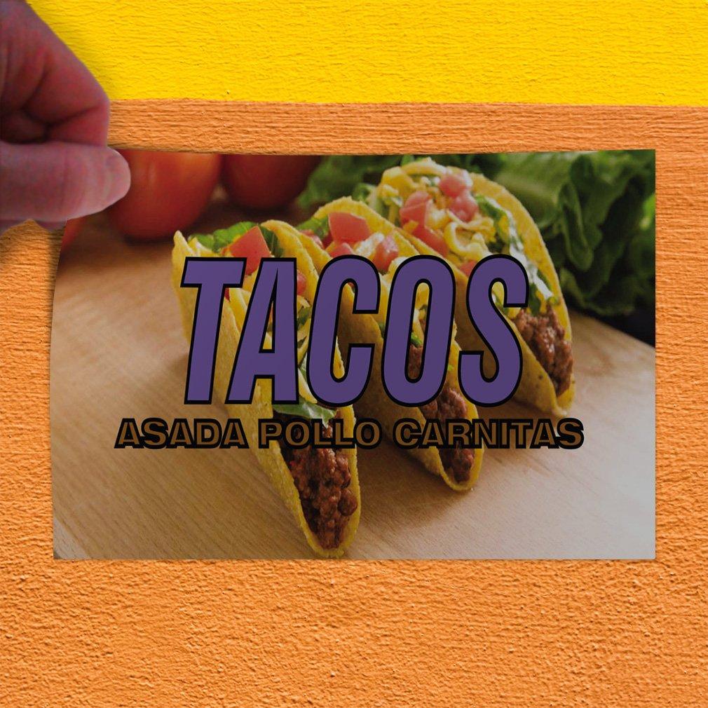 Amazon.com : Decal Sticker Multiple Sizes Tacos Asada Pollo ...