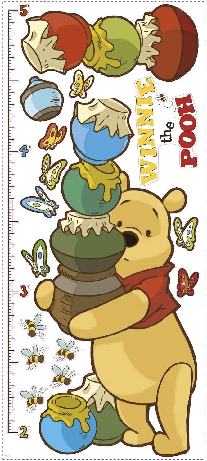 Amazon Com Roommates Pooh Growth Chart Wall Decal Home Kitchen