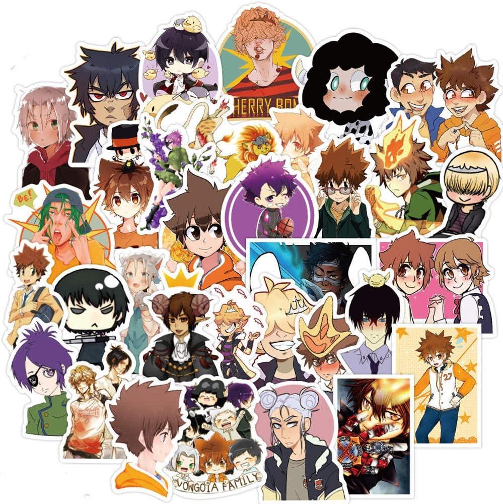 100 pegatinas de anime Hitman renacido para ordenador portátil, guitarra, equipaje, monopatín, teléfono, coche, impermeable, grafiti, juguetes para niños