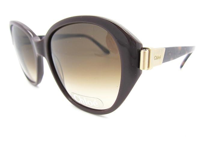 Amazon.com: + Chloe CL 2261 Noir – Gafas de sol Chocolate ...