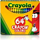 "Crayola TRTAZ11A Crayon Set, 3-5/8"", Permanent/Waterproof, 64/BX, Assorted, Sold as 1 Box"