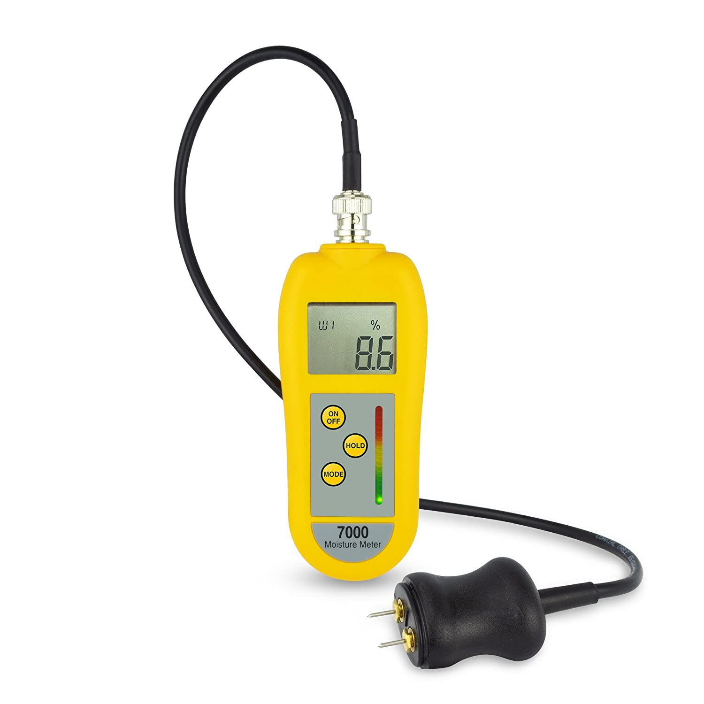 Professionelle 7000Feuchtemessgerät/Feuchtigkeit Meter mit Allgemeine Zwecke zweipoligen Sonde