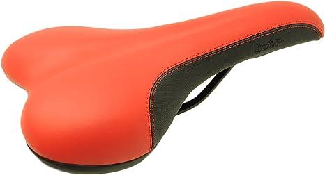 Rojo y Negro MTB bicicleta asiento por