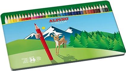 Alpino AL000760 - Estuche metálico de 36 lápices, colores surtidos, 1 unidad: Amazon.es: Oficina y papelería